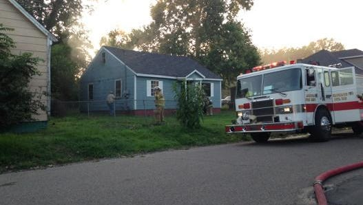 Crews respond to house fire on Webster Street.