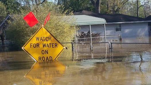 The entire town of Deweyville, Texas, is underwater.