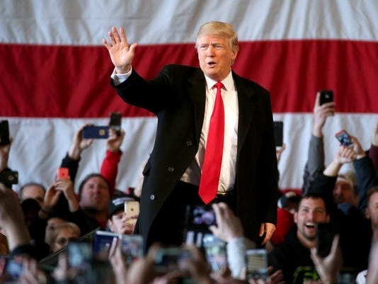 USP NEWS: DONALD TRUMP RALLY IN ROCHESTER N USA NY