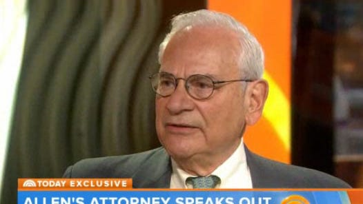 Woody Allen's attorney, Elkan Abramowitz, appears on 'Today' on Feb. 4, 2014.