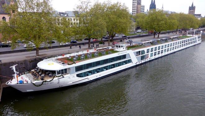 """The 443-by-38 foot, 182-guest MV Emerald Sky is the first in a four vessel platform called the """"Star Ship"""" class for newly formed Emerald Waterways, a premium division of Australian-owned deluxe operator Scenic Tours."""