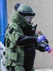 A Doña Ana County Sheriff's Office bomb squad member