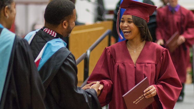West Creek High School held their graduation in the Austin Peay Dunn Center on Saturday.