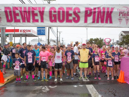 Dewey Goes Pink 5K steps off Saturday at 11 a.m.
