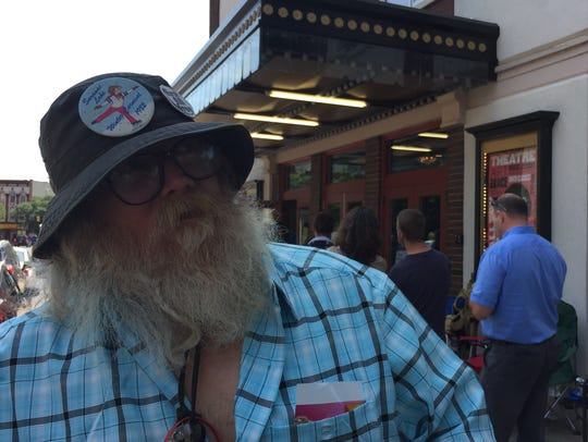 Steve Schnibbe of Saranac Lake, New York, stands Saturday