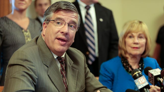 State Rep. John Nygren, R-Marinette, left, and state Sen. Alberta Darling, R-River Hills, right, are at odds over state transportation spending.