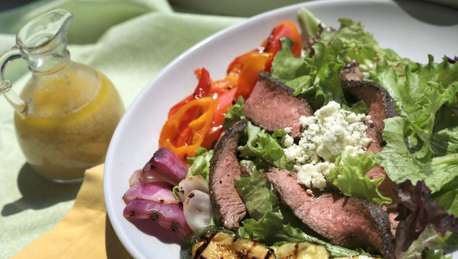 Grilled Steak and Veggie Salad.
