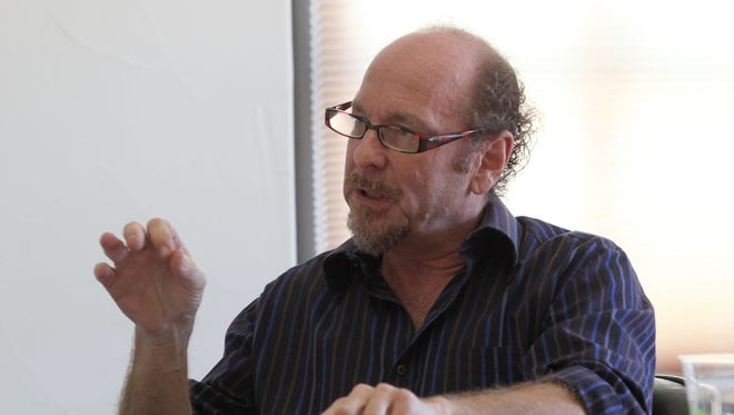 Michael Solomon speaks during a Desert Healthcare District board meeting in July 2016.
