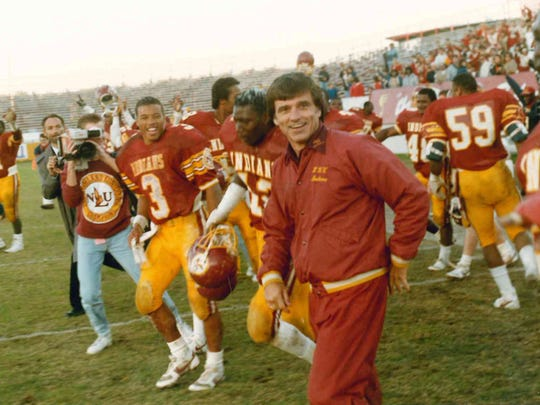 Pat Collins, the winningest coach in ULM history (57-35), set the tone for the 1987 season by making staff changes in the offseason.