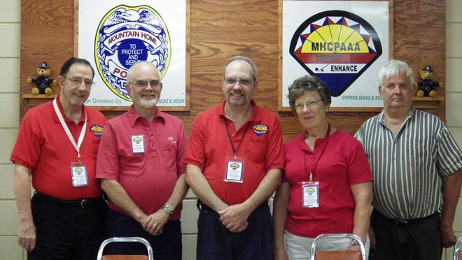 Mountain Home Citizens Police Academy Association Alumni Board members for 2015-2016 are, from left, Robert Crawford, president; Dale Lakin, vice president; Ed Case, secretary; Jo Cushing treasurer, and John Beach, sergeant-at-arms.
