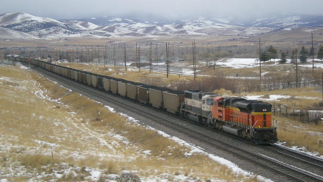 A BNSF train pictured in a file photo.