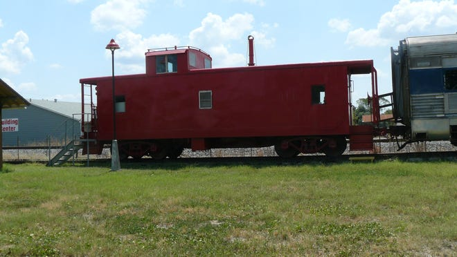 This red caboose delights visitors to the Rockdale International and Great Northern Depot Museum.