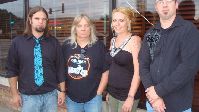 Members of Midnight Drive Band are, from left, Corey Henke, drums and vocals; Billy Tulsa, guitar; Tammy Schwartz, lead vocalist; and Kenny Sprotte Jr., bass guitar and vocals.