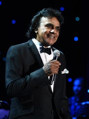 Johnny Mathis performs in 2015 during a Gala and Salute
