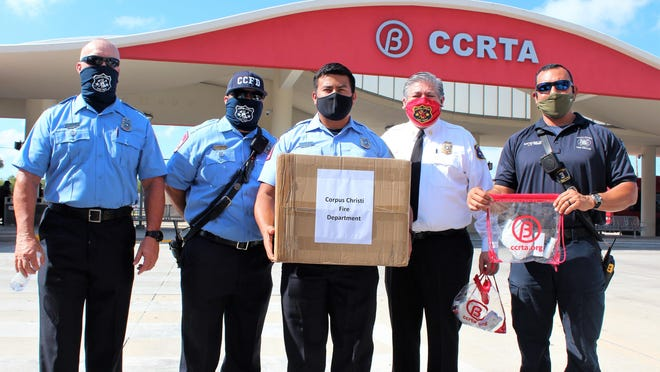 Corpus Christi Fire Department with their donation of 5,000 facial masks