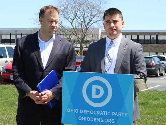 Democratic Party Chairman David Pepper and Oak Harbor