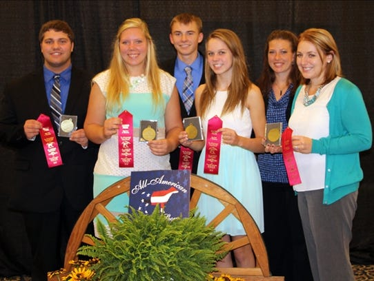 All-American Dairy Judging Contest (left to right):