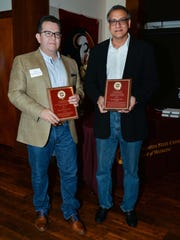 Faculty award winners, from left: Dr. Diego Maldonado and Dr. Moti Ramgopal.