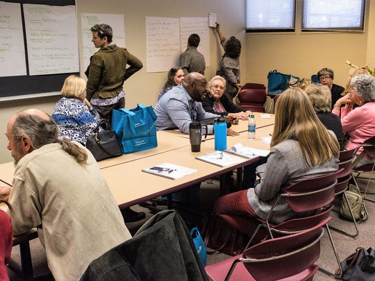 """""""I had never been to a workshop like this before,"""" said Etcheverry. Instead of listening to presentations all day, non-profits collaborated to hatch ideas and write proposals in just 3 hours. The proposal headed by Etcheverry was awarded a $20,000 grant on the spot."""