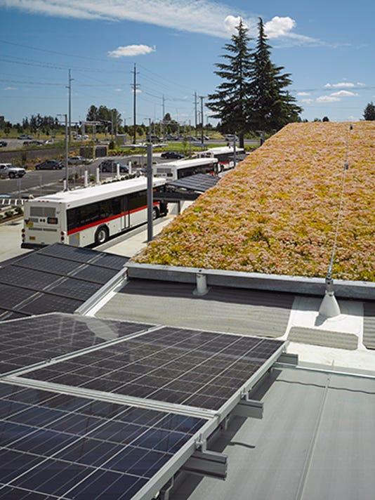 Keizer Transit Station Center roof