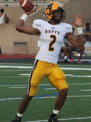 Jeremy Smith of Missouri City, Texas, plays quarterback among other positions as a junior at Fort Bend Marshall High School.