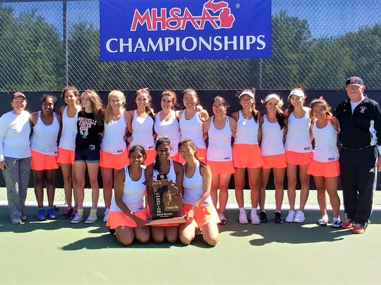 The Northville girls tennis team is the outright 2018
