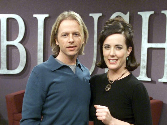David Spade with his sister-in-law Kate Spade in 2002.