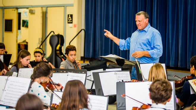 Orchestra is the Schools CEO and music director James Paoletti leads a group of students.
