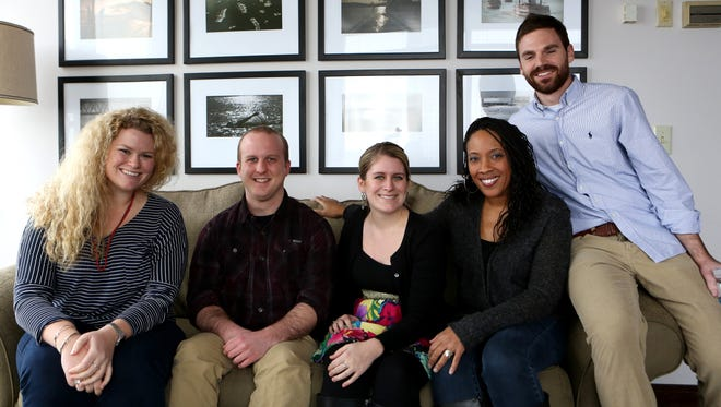 Single Enquirer staffers (from left) Meg Vogel, Ben Goldschmidt, Emilie Eaton, Cara Owsley and Joel Beall.