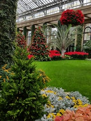 The four-acre conservatory includes20 indoor gardens