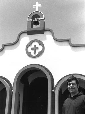 Father Andy Mannetta, pastor of the Santa Teresita Church, in Mangilao, as photographed June 24, 1988.