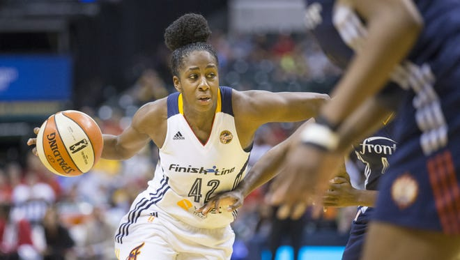 Former Rush-Henrietta star Shenise Johnson was acquired by Indiana in a trade last March with San Antonio.