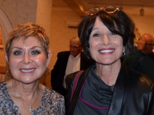 Joan (Salamanca) Gallagher (right) with a friend and