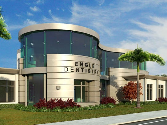 A rendering of the Engle Dentistry office that is being