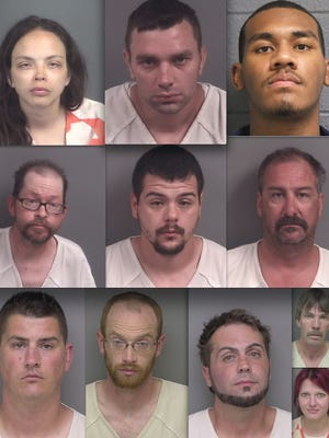 Top row, from left: Heather Gillrie, Matthew Opdycke and Stephen Caver. Middle: Wesley Nims, Bronson Jordan and Gary Jackson. Bottom row: Brian Berson, Johnathon Stoeher, James Wamser, Todd Davis and Laura Lewis.