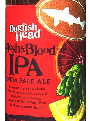 Flesh and Blood IPA, from Dogfish Head Craft Brewery Inc. in Milton, Del., is 7.5% ABV.