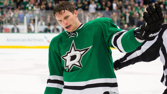 Dallas Stars winger Antoine Roussel has eight points and 43 penalty minutes this season.