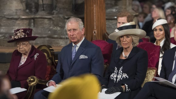 Queen Elizabeth II, Prince Charles, his wife Camilla,