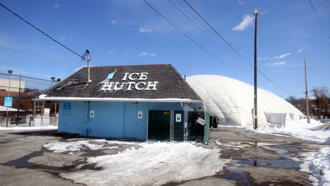 The Ice Hutch in Mount Vernon, photographed March 16, 2017, was built inside an inflatable bubble in 1996.