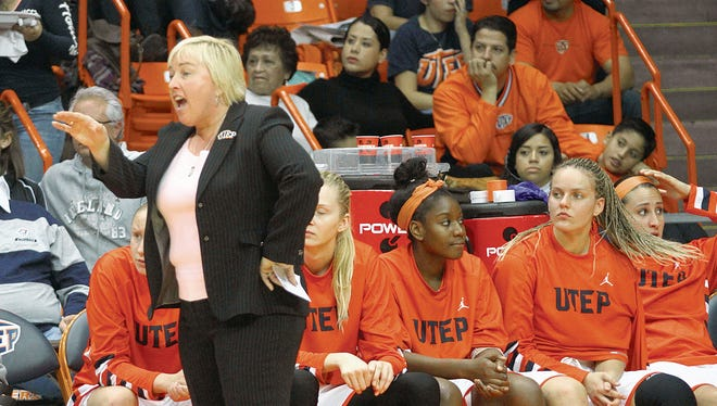 UTEP women's basketball coach Keitha Adams