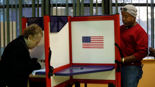 Voters cast their ballots in the presidential election