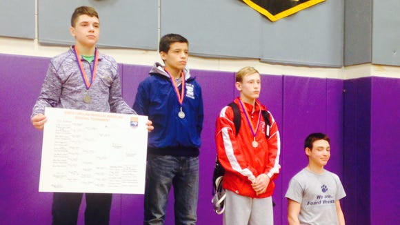 North Henderson's Josh Blatt won his weight class at