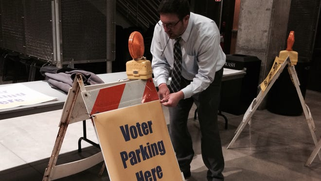The city saw more than 40 percent voter turnout by 5 p.m. Tuesday.