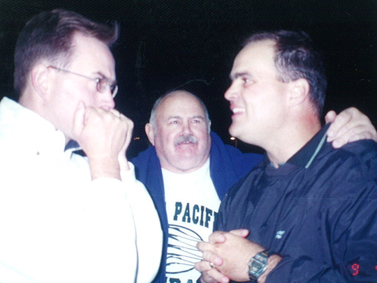 Don Shinnick (far left) with his son Pete Shinnick,