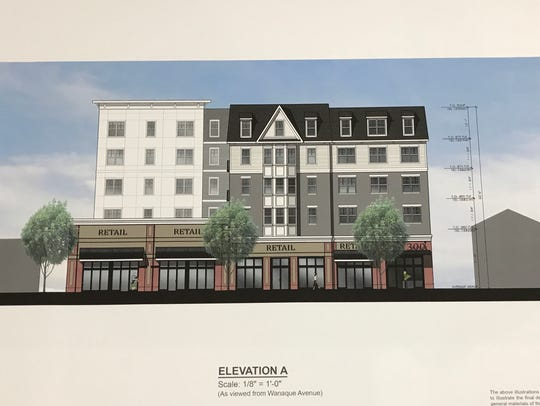 Accordia Realty presented revised drawings for an apartment and retail project on Wanaque Avenue in Pompton Lakes.