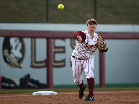 Florida State third baseman Jessica Warren has not only been leading her team at the plate but also in the field.