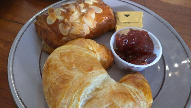 Chelsea's Gourmet Market and Café's freshly-baked almond and plain croissants.