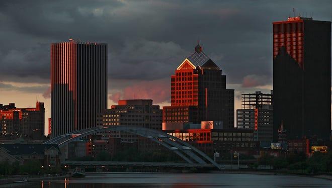 The Rochester skyline.