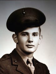 A photograph of U.S. Marine Cpl. Hank Markovich. Markovich served on the island of Okinawa during World War II and spent 27 months recovering after being severely wounded.