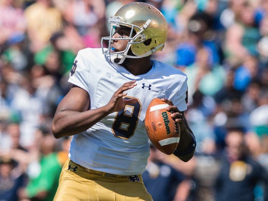 In 17 games at Notre Dame, Malik Zaire completed 58 of 98 attempts (59.2%) for 816 yards, with six touchdowns and no interceptions. He also rushed 72 times for 324 yards and two touchdowns.
